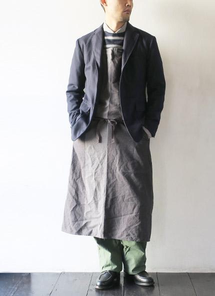 Engineered Garments(エンジニアドガーメンツ) ニューロングエプロン BC305の商品ページです。
