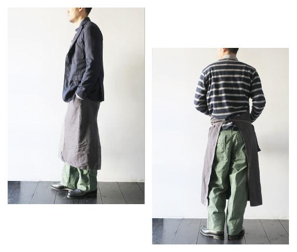 Engineered Garmentsのエプロンのモデル着用画像