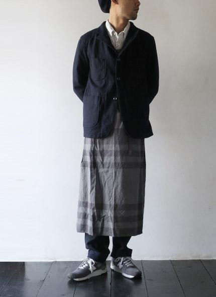 Engineered Garmentsのジャケットのモデル着用画像